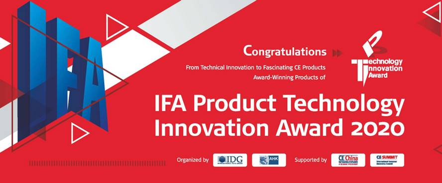 Midea получает награду IFA Product Technology Innovation Award